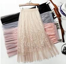 Śliczne spódnice z tiulem &...