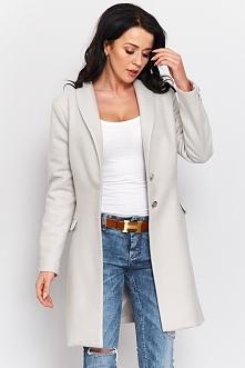 Wiosenny płaszcz flauszowy  r-p002