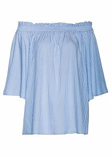 Tunika bonprix niebiesko-biały w paski