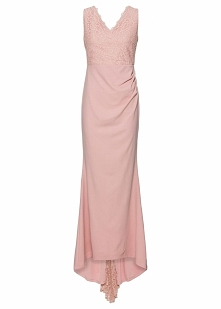 Sukienka ślubna bonprix jasnoróżowy