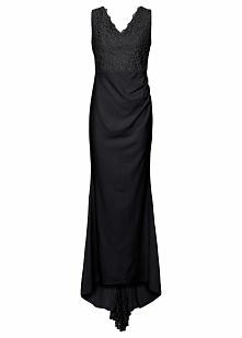 Sukienka ślubna bonprix czarny