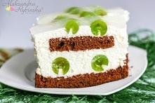 WINOGRONOWY OBŁOCZEK - ciasto śmietanowo-kakaowo-winogronowe