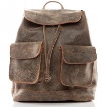 Skórzany plecak vintage. Wykonany ręcznie przez markę Belveder. Idealny jako plecak worek miejski w stylu vintage