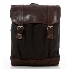 Brązowy skórzany plecak. Styl vintage w połączaniu z praktycznymi rozwiązaniami. Plecak ten bowiem posiada przegrodę na laptopa oraz organizer do pracy.