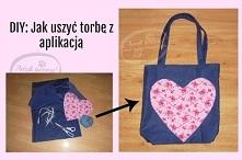 Jak uszyć torebkę - z kieszonką wewnątrz oraz ozdobną aplikacją na zewnątrz? Po szczegóły i instrukcje KLIKnij w zdjęcie lub zajrzyj na Adzik-tworzy.pl