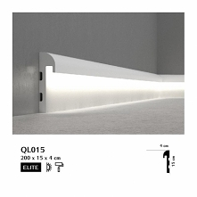 Listwa podłogowa oświetleniowa QL015P Mardom Decor z kolekcji Elite to nowocz...