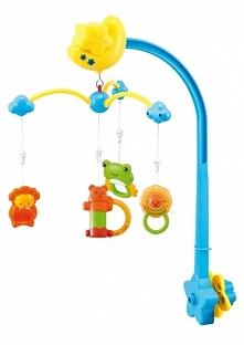 Canpol Babies Elektryczna karuzela plastikowa z pozytywką - miś z przyjaciółmi