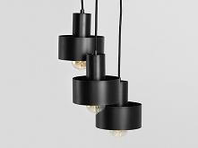 Lampa wisząca FAY 3 KOŁO – czarny
