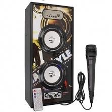 20W Duży bezprzewodowy głośnik przenośny Bluetooth Karaoke pilot LED radio + ...