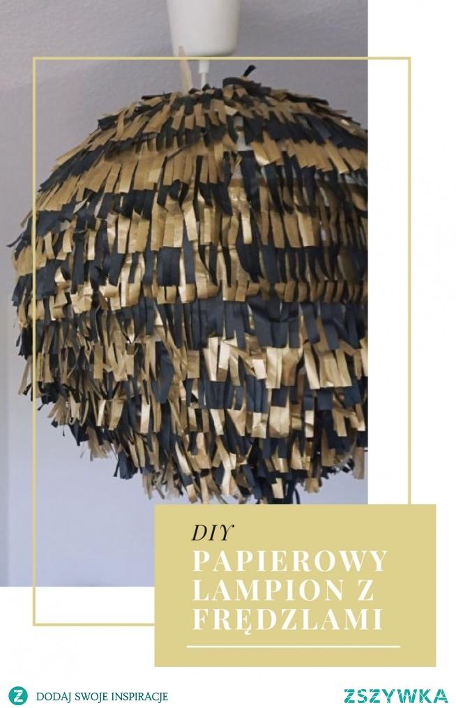 DIY Papierowa lampa z frędzlami - na imprezę w stylu Wielkiego Gatsbiego (impreza lata 20) • origamifrog.pl