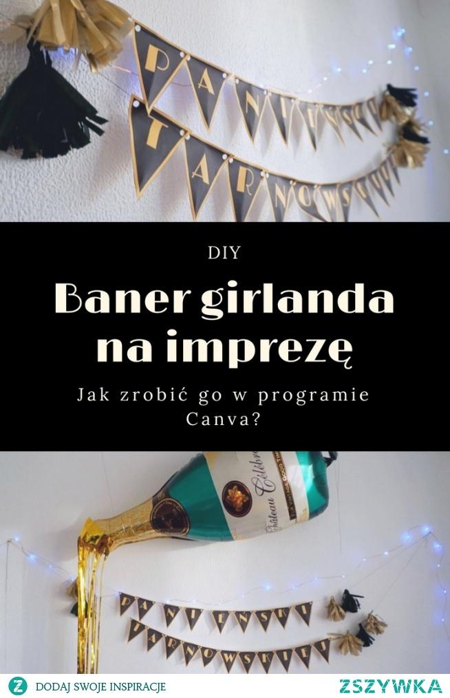 Zrób to sam - tutorial krok po kroku - baner girlanda na imprezę // DIY Jak zrobić baner girlandę w Canvie • origamifrog.pl