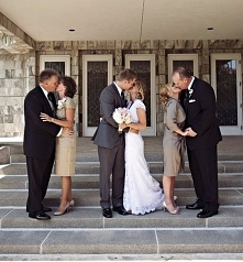 świetny pomysł na weselne zdjęcie