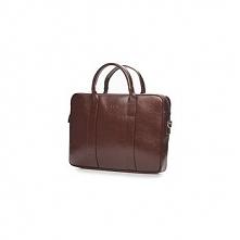Skórzana brązowa męska torba na laptopa do pracy skóra naturalna
