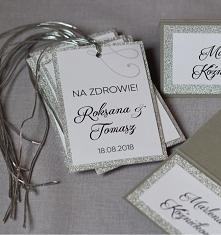 silver srebrne dodatki weselne zaproszenianavi.pl