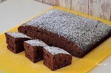 Pyszne ciasto w kilka chwil... Murzynek z powidłami śliwkowymi