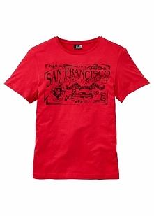 T-shirt Regular Fit bonprix czerwony