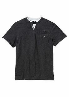 T-shirt Regular Fit bonprix antracytowy melanż