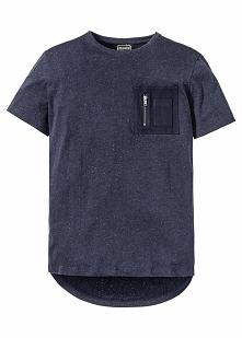 Długi t-shirt Regular Fit bonprix ciemnoniebieski