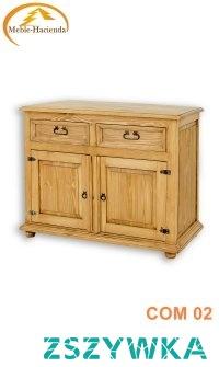 woskowana komoda z litego drewna