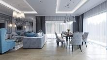 Luksusowe wnętrze rezydencji. Projekt i wykonanie: JUSTYNA TATYS LUXURY INTER...