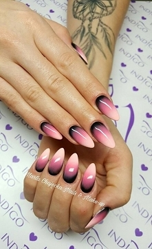 ombre różowe