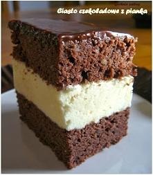 Pyszne ciasto czekoladowe z...