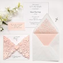 Zaproszenie na chrzest różowe personalizowane Śliczne zaproszenie w różowej kolorystyce będzie świetnie pasowało na chrzest dziewczynki!