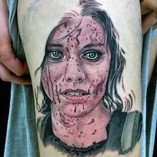 realistic tattoo face