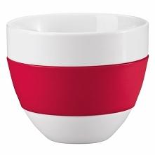 Koziol Kubek do latte AROMA biało czerwony