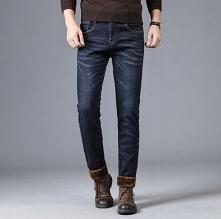 Klasyczne jeansy męskie z d...