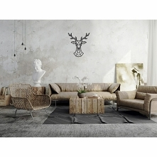 DEER - Lubimy jelenie, więc musieliśmy wykonać jeszcze taką jego wariacje. Świetna dekoracja ścienna do twojego wnętrza. Bardzo wyróżnia się na ścianie. Z charakterem i w ciekaw...