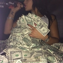 dope, dolars, money, girl, drink