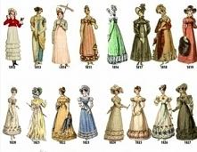 Moda lata 1812 - 1827.