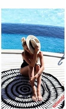 Perfect gift to you! Ręcznik albo narzutka do domu w stylowe wzory duży ⭕ okr...