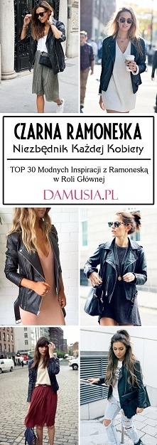 Czarna Ramoneska – Niezbędnik Każdej Kobiety: TOP 30 Modnych Inspiracji z Ram...