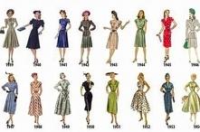 Moda lata 1939 - 1954.