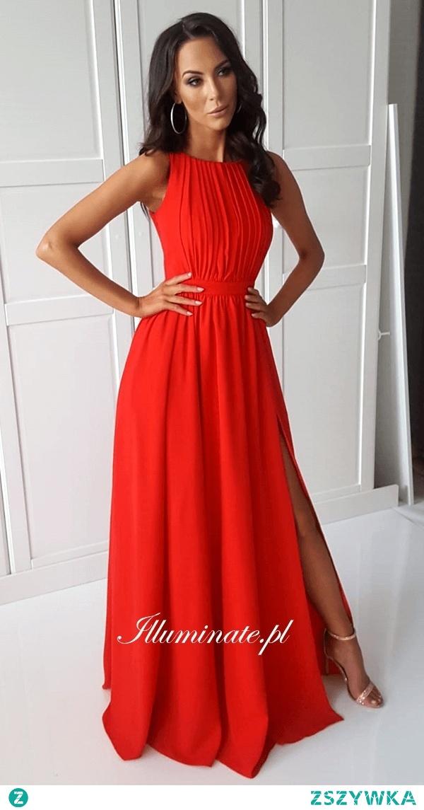 Przepiękna długa, czerwona sukienka z kolekcji Illuminate <3