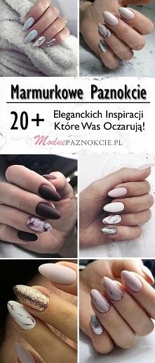 Marmurkowe Paznokcie: TOP 20+ Eleganckich Inspiracji Które Was Oczarują!