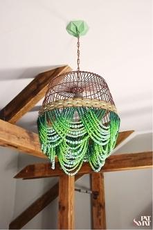 DIY Etno Lampa z drewnianyc...