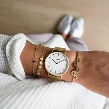 Zegarek Cluse CL18109 Gold/White to klasyczna elegancja w nowoczesnym wydaniu!