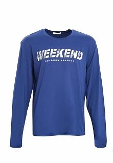Niebieska Koszulka Weekend Vibes