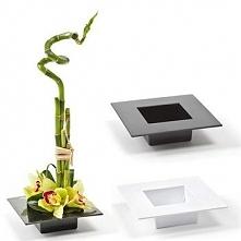 [lamela]doniczka Ikebana Połysk Czarny 190x190