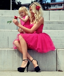 Mama i córka- słodko :)