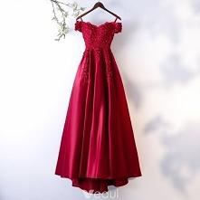 Piękne Burgund Sukienki Wieczorowe 2018 Princessa Z Koronki Kwiat Kryształ Rhinestone Cekiny Spaghetti Pasy Bez Pleców Kótkie Rękawy Trenem Sweep Sukienki Wizytowe