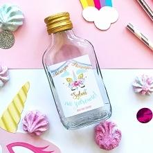 Etykiety na mini wódkę to super gadżet, który będzie uroczą dekoracją mini bu...