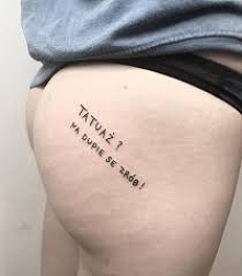 tatuaż? na dupie se zrób!