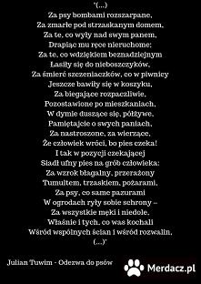 Julian Tuwim -Pies. Znalezione na Merdacz.pl