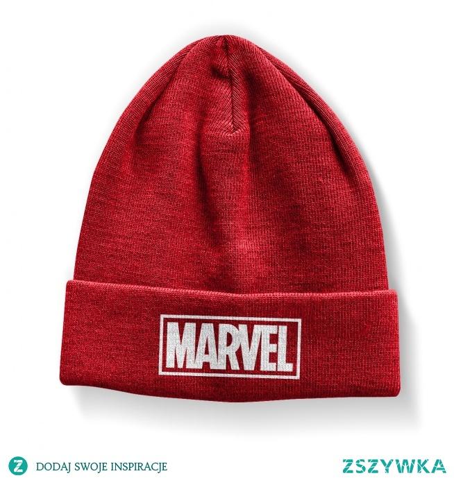 Czapka MARVEL logo- zimowa czapka z logo MARVEL dla fanów. Modna czapka młodzieżowa z Marvela - czapka damska i czapka męska (model unisex) krasnal z logiem komiksów i filmów MARVEL DC. Licencjonowana oryginalna czapka z kolekcji MARVEL dodatki i gadżety. Sklep internetowy Marvel Polska. Nadruki na czapki trwałe - nie spierają się i nie odpadają. Czerwona czapka z białym nadrukiem Marvel - czapka smerfetka z logo marvela