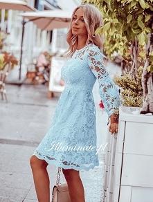 Wyjątkowa, błękitna sukienk...