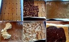 Ciasto Snickers na krakersach